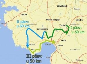 Tipikate rattamatka kaart Pärnumaal