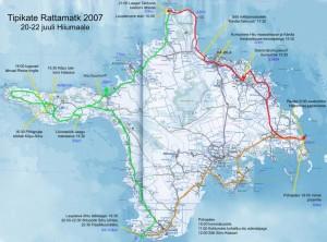 Tipikate rattamatka kaart Hiiumaal