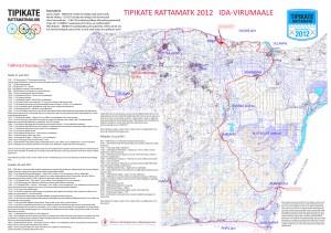 Tipikate Rattamatka kaart Ida-Virumaal