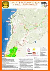 Tipikate Rattamatka kaart Lõuna-Pärnumaal